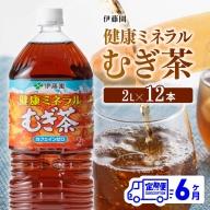 伊藤園 健康ミネラル むぎ茶 2L×6本×2ケースPET【6ケ月定期便】