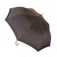 槙田商店【紳士雨傘】長傘 Tie Stripe×Plain ワイン