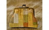 【宮本佳緒里の布小物:財布】手作りのがま口財布(小銭入れ)【草木染め】