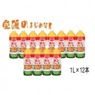 【12月末で終了予定】えひめ飲料 POM 「ポンジュース」 果汁100% 2ケース(1Lペット×12本)