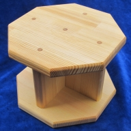 010B625 手作り木製 正座用補助椅子(高さ15cm)