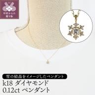 K18ダイヤモンド0.12ctペンダント(PNI-101YGNW)