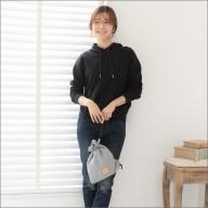 感動を生む吊り編みの技!天竺ニット巾着ショルダーバッグ