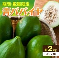 A522 《期間・数量限定》栄養の宝庫!!「青パパイヤ」約2kg(都農町産)