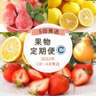 【定期便(5回発送)】果物定期便C(デコポン・あまおう・ニューサマーオレンジ・甘夏・冷凍あまおう)