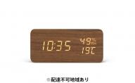 デジタル置時計 ICW-01WH-T ブラウン