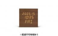 デジタル置時計 ICW-02W-T ブラウン