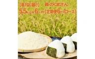 【毎月お届け】森のくまさん 精米 5.5kg(定期便6ヶ月コース)