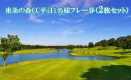 東条の森CC平日1名様プレー券(2枚セット)