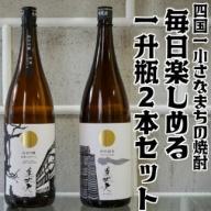【四国一小さな町の地酒】美丈夫 毎日楽しめる一升瓶2本
