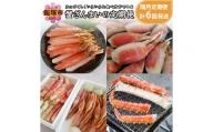 【N-018】カニづくし!いろいろな食べ方ができる蟹ざんまいの定期便【隔月定期便(計6回発送)】G-6
