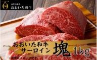 冷蔵発送/おおいた和牛 贅沢サーロインブロック1kg