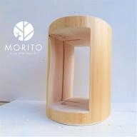 (3)MORITOブランド 森の丸太くり抜きスツール<ヒノキ/磨き丸太仕上げ> オットマン 椅子 本棚
