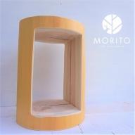 (5)MORITOブランド 森の丸太くり抜きスツール<杉/磨き丸太仕上げ> オットマン 椅子 本棚