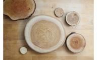 輪切りプレート 岩泉の森の樹のプレートLサイズ2枚set
