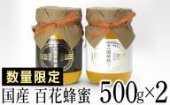 BQ001 【数量限定】国産蜂蜜ギフト 500g×2本