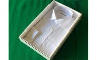 【生地:ノーアイロン】オーダーワイシャツ-川西町産貝ボタン使用-白蝶貝