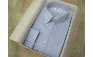 【生地:ロイヤルオックス】オーダーワイシャツ-川西町産貝ボタン使用-白蝶貝
