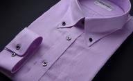 【生地:ロイヤルオックス】オーダーワイシャツ-「オリジナルネーム入り」川西町産貝ボタン使用-