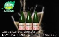 K21_0014_2<木城町・毛呂山町 新しき村友情都市コラボ スパークリング日本酒 「Alabanza」3本>