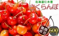 北海道仁木産さくらんぼ600g(300g×2)