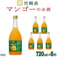 <宝 宮崎産マンゴーのお酒 720ml×6本>