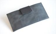 BK010・スマート長財布(オイルレザー・ブラック)