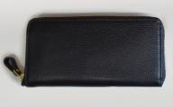 BK019・ラウンドジップ長財布(シュリンクレザー・ブラック)