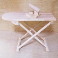 020C119 手作り木製 アイロン台(アイロン付き)