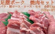 【B-139】コロナ生活応援:焼肉4部位セット(足摺ポーク500g×2P)