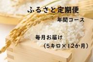 【12ヶ月連続お届け】IKUSAKAのお米 5kg こしひかり