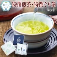 <お中元対応>特撰煎茶・特撰ぐり茶セット【N8】