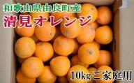 【訳あり・ご家庭用】和歌山由良町産の濃厚清見オレンジ約10kg ※2022年2月上旬~2022年2月下旬頃に発送予定(お届け日指定不可)