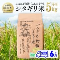 ☆早場米☆ 令和3年産 シタギリ米 「コシヒカリ」 5kg×6ヶ月定期便
