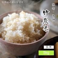 【ふるさと納税】竹炭米(玄米) コシヒカリ 5kg 数量限定