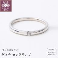 K10WG 0.05CT ダイヤモンドリング【R3621DI】