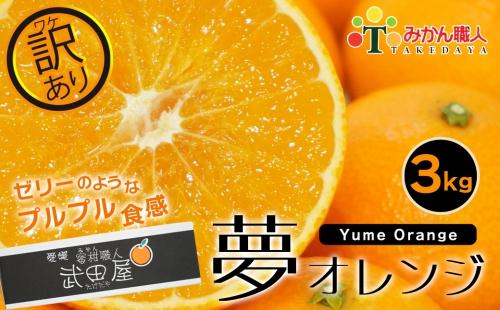 【訳あり】みかん職人の夢オレンジ3kg