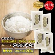 【先行予約】 ゆめぴりか 無洗米 20kg 北海道 雪中米 令和3年産