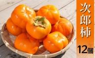 【秋の味覚】幻の柿 次郎柿!木成り完熟の逸品12個入り(3kg)