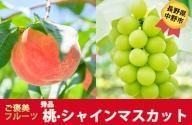 I-182-3 長野県中野市産 桃とシャインマスカットのセット【秀品】