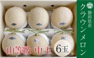 クラウンメロン 上(山クラス) 1.3kg 6玉