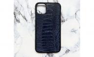 iphone11用 スマホケース 【オーストリッチレッグ ネイビー】