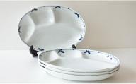A15-113 ヘルシー仕切り皿4枚セット(花つなぎ) 東洋セラミックス
