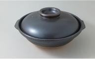 A75-29  有田焼 黒 尺土鍋 ヤマト陶磁器