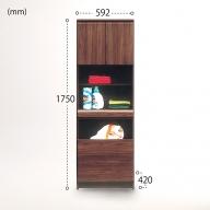 J−050.60幅ランドリー収納BR【諸富家具】