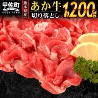 熊本県産 くまもとあか牛 切り落とし 1200g