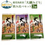 Z-952 お茶のぶどう園 鹿児島煎茶「大綱みどり」飲み比べセット(下方)