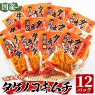 akune-2-107 国産味付タケノコキムチ(100g×12パック・計1.2kg)ご飯はもちろん、焼肉やお酒のおつまみにも!【上野食品】 2-107