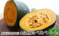 北海道壮瞥町「FARM K」かぼちゃ4品種食べ比べ詰め合わせ 4~6玉