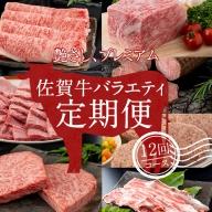 G200-003 【定期便】 佐賀牛バラエティ12回(毎月)セット (お肉の定期便)